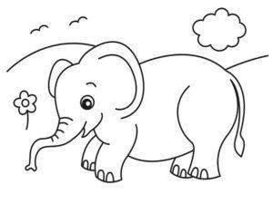 Слон картинки раскраски (5)