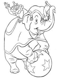 Слон картинки раскраски (6)