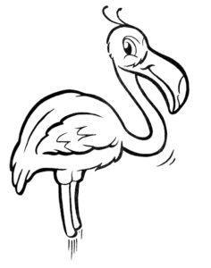 Фламинго картинки раскраски (14)