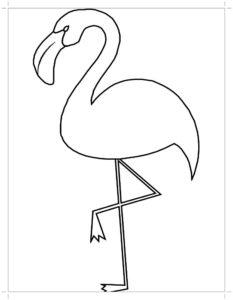 Фламинго картинки раскраски (21)