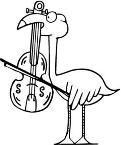 Фламинго картинки раскраски (9)