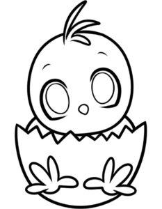 Цыпленок картинки раскраски (10)