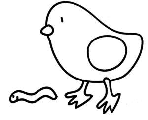 Цыпленок картинки раскраски (16)