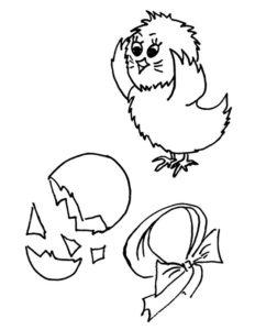 Цыпленок картинки раскраски (30)