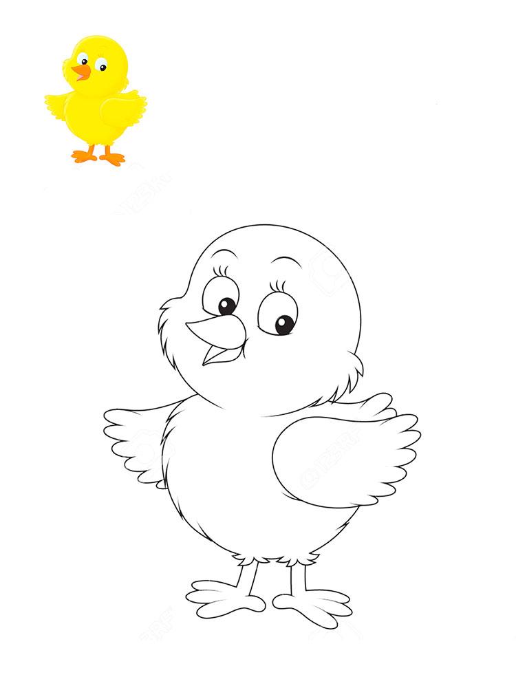 цыпленок картинка карандашом барельефы