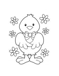 -картинки-раскраски-37-233x300 Цыпленок