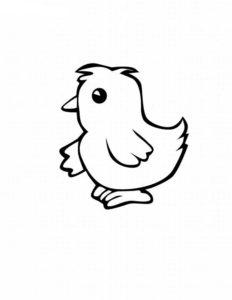 -картинки-раскраски-50-232x300 Цыпленок