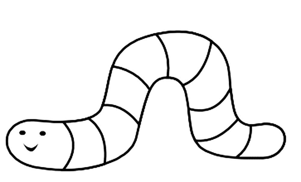 Червяк картинки раскраски (47)