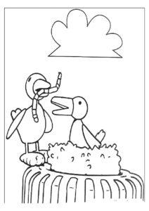 Червяк картинки раскраски (7)