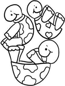 Черепаха картинки раскраски (14)