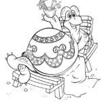 Черепаха картинки раскраски (24)