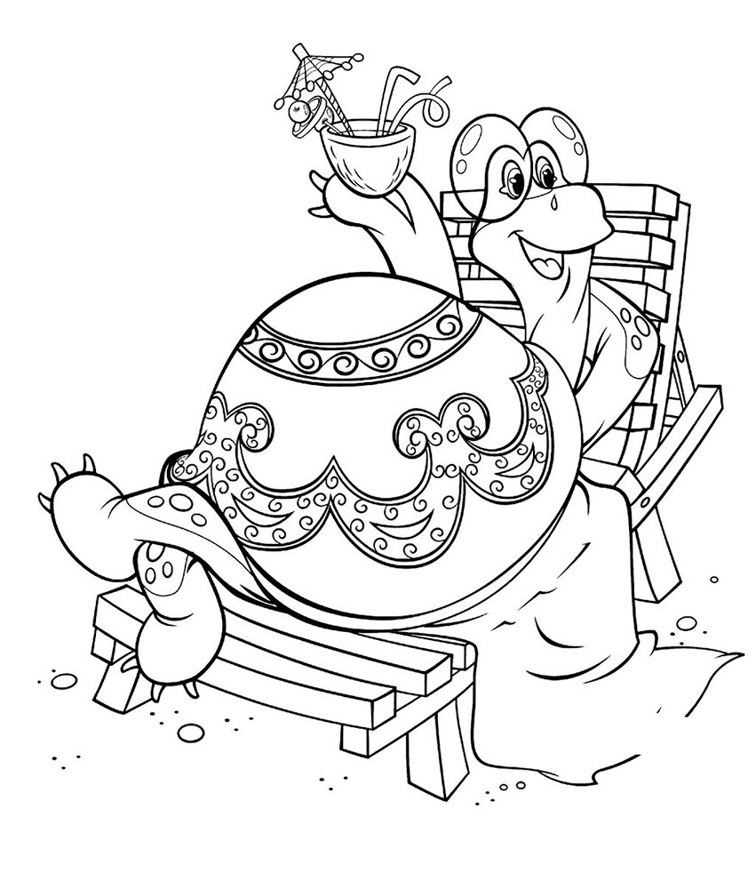-картинки-раскраски-24 Черепаха картинки раскраски (24)