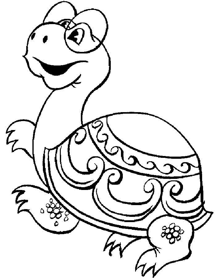 Черепаха картинки раскраски (27)