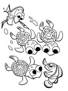 Черепаха картинки раскраски (6)