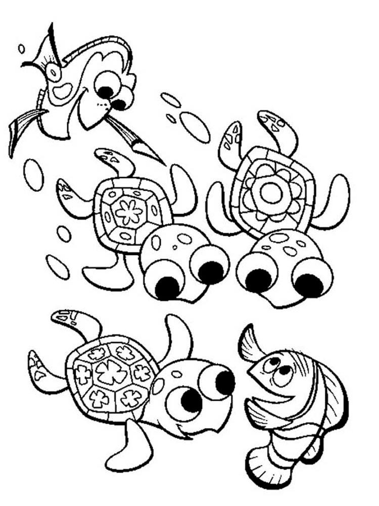 -картинки-раскраски-6 Черепаха картинки раскраски (6)