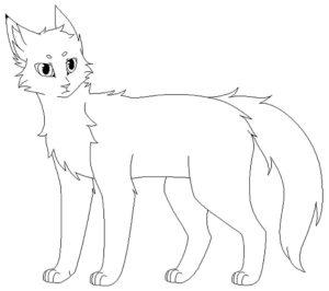 Коты воители картинки раскраски 3