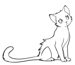 Коты воители картинки раскраски 4
