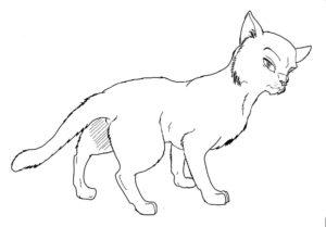 Коты воители картинки раскраски 8