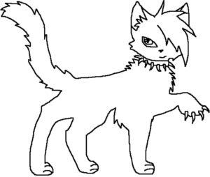 Коты воители картинки раскраски 17