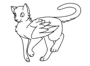 Коты воители картинки раскраски 18