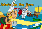 Астерикс на берегу онлайн раскраска