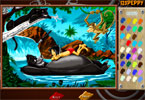 Балу и Маугли онлайн раскраска