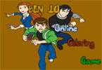 Бен 10   онлайн раскраска
