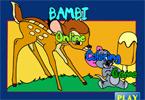 Бэмби и друзья   онлайн раскраска