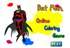 Бэтмен и синий жук онлайн раскраска