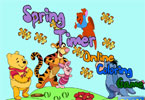 Весенний таймер онлайн раскраска