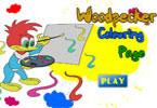 Вуди Вудпекер онлайн раскраска