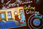 Гуффи в спальне онлайн раскраска