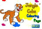 Детеныши джунглей онлайн раскраска