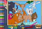 Джунгли Император Лев Кимба онлайн раскраска