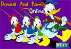 Дональд и Семья   онлайн раскраска
