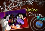 Злодеи  онлайн раскраска