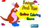 Канга и Ру   онлайн раскраска
