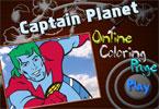 Капитан Планета онлайн раскраска