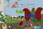 Книга Джунглей  онлайн раскраска