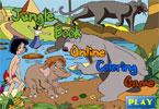 Книжка Джунглей  онлайн раскраска