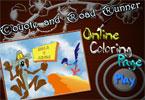 Койот онлайн раскраска
