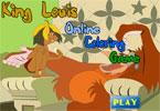Король Луи   онлайн раскраска