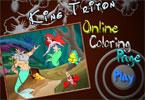 Король Тритон онлайн раскраска
