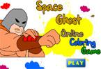 Космический призрак онлайн раскраска