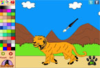 Крадущийся тигр онлайн раскраска