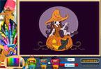 Красивая Ведьма   онлайн раскраска