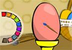 Крашеные яйца онлайн раскраска