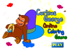 Любопытный Джордж   онлайн раскраска