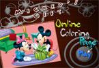Микки Гараж  онлайн раскраска