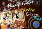 Микки Гарден   онлайн раскраска